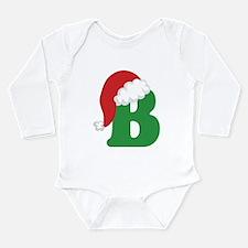 Christmas Letter B Alphabet Long Sleeve Infant Bod