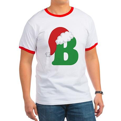 Christmas Letter B Alphabet Ringer T