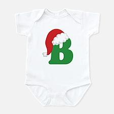 Christmas Letter B Alphabet Infant Bodysuit