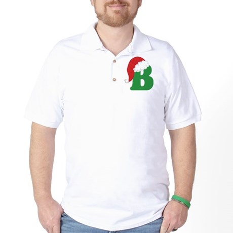 Christmas Letter B Alphabet Golf Shirt