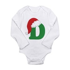 Christmas Letter D Alphabet Long Sleeve Infant Bod