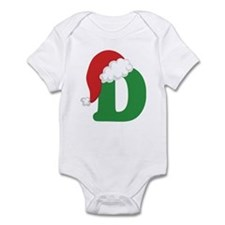 Christmas Letter D Alphabet Infant Bodysuit