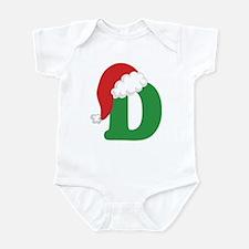 Christmas Letter D Alphabet Infant Bodysuit