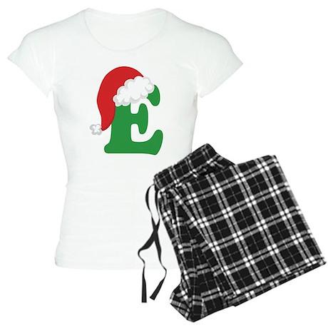 Christmas Letter E Alphabet Women's Light Pajamas