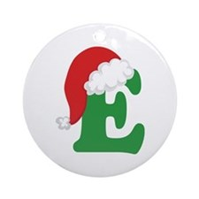 Christmas Letter E Alphabet Ornament (Round)