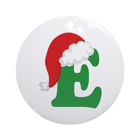 christmas letter e alphabet ornament round by With letter e christmas ornament