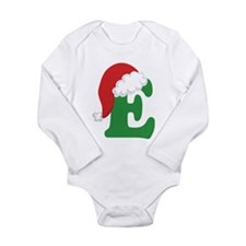 Christmas Letter E Alphabet Long Sleeve Infant Bod