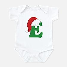 Christmas Letter E Alphabet Infant Bodysuit