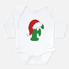 Christmas Letter F Alphabet Long Sleeve Infant Bod