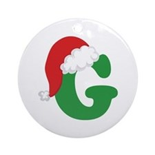 Christmas Letter G Alphabet Ornament (Round)