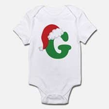 Christmas Letter G Alphabet Infant Bodysuit