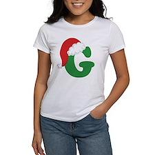 Christmas Letter G Alphabet Tee