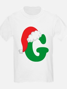 Christmas Letter G Alphabet T-Shirt