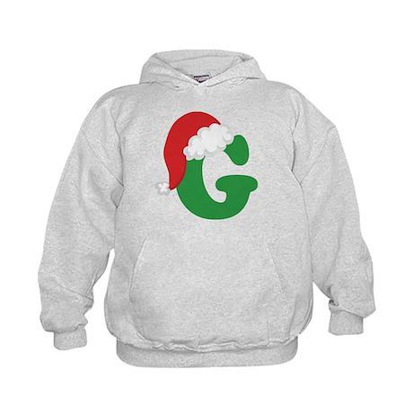 Christmas Letter G Alphabet Kids Hoodie