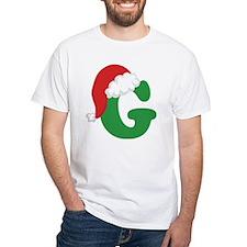 Christmas Letter G Alphabet Shirt