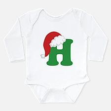Christmas Letter H Alphabet Long Sleeve Infant Bod
