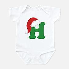 Christmas Letter H Alphabet Infant Bodysuit
