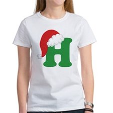 Christmas Letter H Alphabet Tee