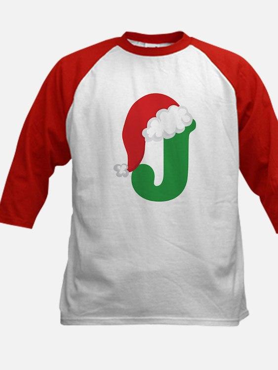 Christmas Letter J Alphabet Tee