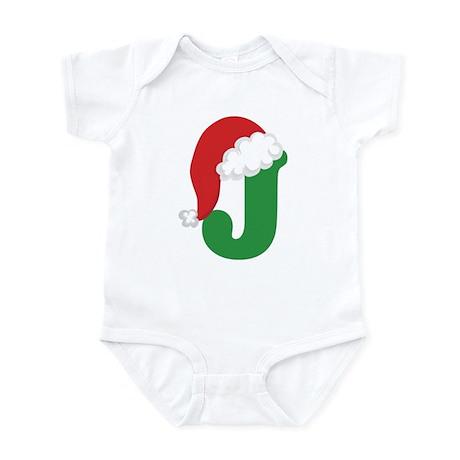 Christmas Letter J Alphabet Infant Bodysuit