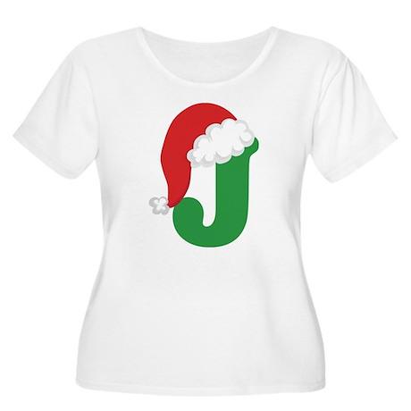 Christmas Letter J Alphabet Women's Plus Size Scoo