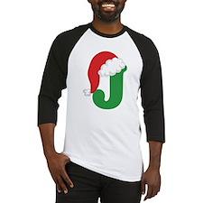 Christmas Letter J Alphabet Baseball Jersey