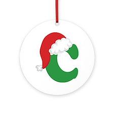 Christmas Letter C Alphabet Ornament (Round)