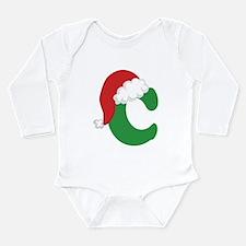 Christmas Letter C Alphabet Long Sleeve Infant Bod