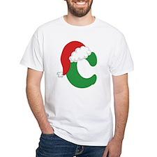 Christmas Letter C Alphabet Shirt