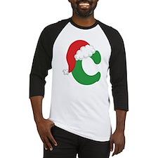 Christmas Letter C Alphabet Baseball Jersey