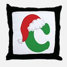 Christmas Letter C Alphabet Throw Pillow