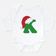 Christmas Letter K Alphabet Long Sleeve Infant Bod