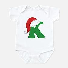 Christmas Letter K Alphabet Infant Bodysuit