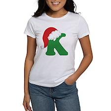 Christmas Letter K Alphabet Tee