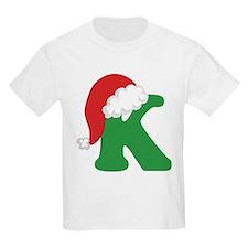 Christmas Letter K Alphabet T-Shirt
