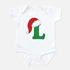 Christmas Letter L Alphabet Infant Bodysuit