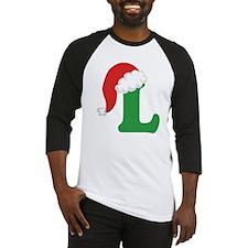 Christmas Letter L Alphabet Baseball Jersey