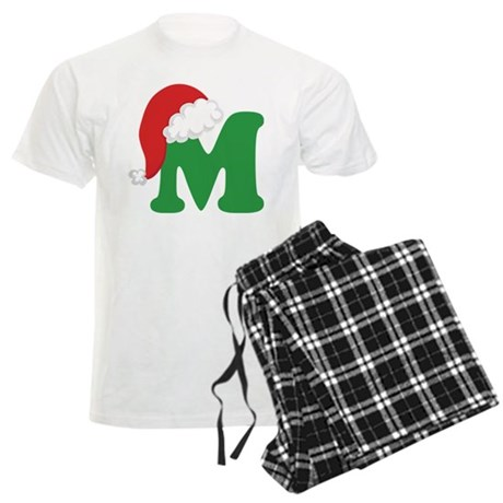 Christmas Letter M Alphabet Men's Light Pajamas