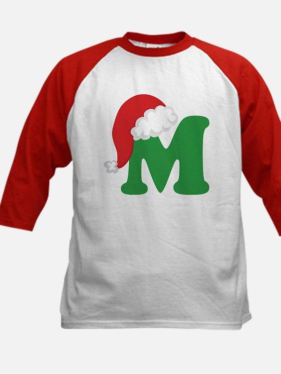 Christmas Letter M Alphabet Tee