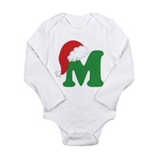 Christmas Letter M Alphabet Long Sleeve Infant Bod