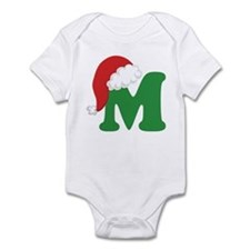 Christmas Letter M Alphabet Infant Bodysuit