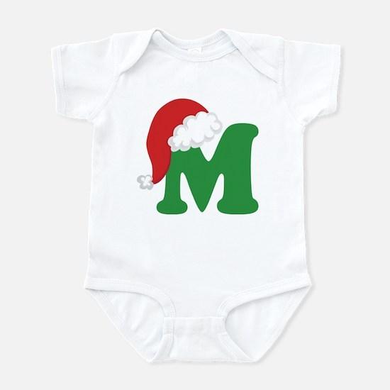Christmas Letter M Alphabet Infant Bodysuit