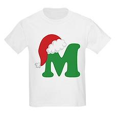 Christmas Letter M Alphabet T-Shirt
