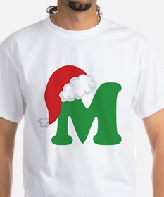 Christmas Letter M Alphabet Shirt