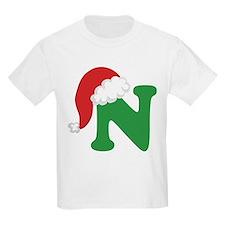 Christmas Letter N Alphabet T-Shirt
