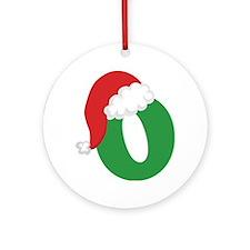 Christmas Letter O Alphabet Ornament (Round)