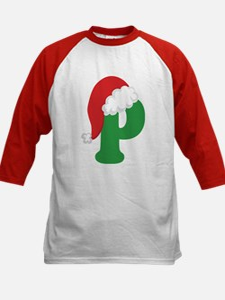 Christmas Letter P Alphabet Tee