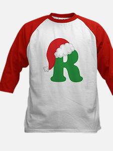 Christmas Letter R Alphabet Kids Baseball Jersey