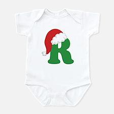 Christmas Letter R Alphabet Infant Bodysuit