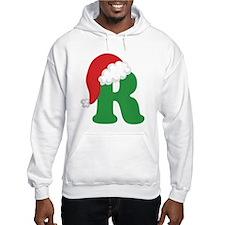 Christmas Letter R Alphabet Hoodie
